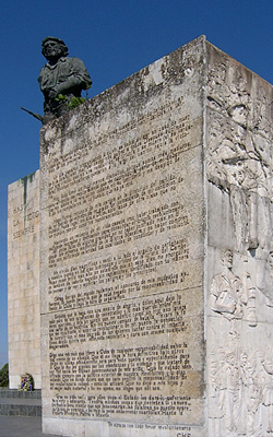 Monument Farewell letter of Che Guevara