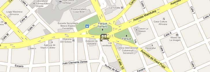 Map Hotel Las Americas Santiago De Cuba