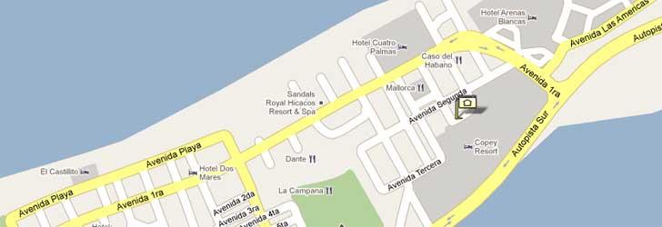 Map Palma Real Varadero